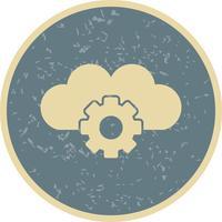 Icône de paramètres de nuage de vecteur