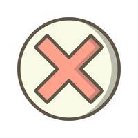 Icône d'annulation de vecteur