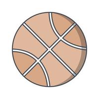 Illustration vectorielle de basket-ball icône vecteur