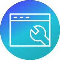 Icône de paramètres de navigateur de vecteur