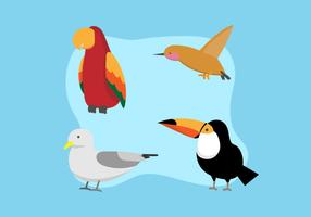 Groupe d'oiseaux vecteur