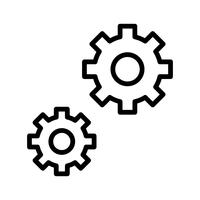 Icône de paramètres vectoriels