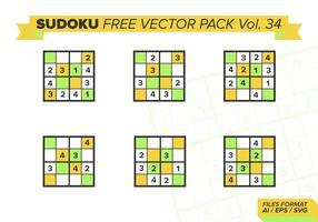 Sudoku Vecteur Libre Pack Vol. 34