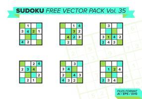 Sudoku Vecteur Libre Pack Vol. 35