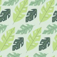 Motif mignon de feuilles de Monstera vecteur