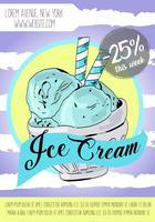 Affiche de la crème glacée. vecteur