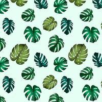 Aquarelle mignonne motif feuilles de Monstera