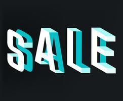 Typographie de vente vecteur