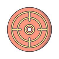 Objectif icône illustration vectorielle