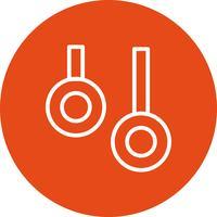 Bagues Icône Vector Illustration