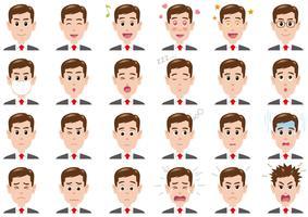 Homme d'affaires diverses expressions définies. vecteur