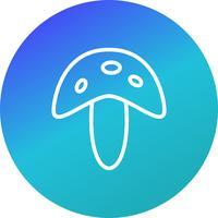 Icône de champignon vecteur