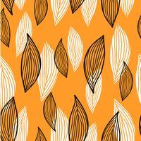 Floral pattern sans soudure de feuilles dans un style plat. vecteur