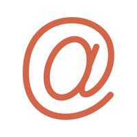 Icône d'adresse e-mail de vecteur