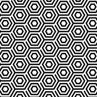 Seamless Pattern avec des hexagones abstraits vecteur