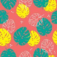 Floral pattern sans soudure de feuilles tropicales dans un style plat.