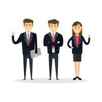 Travail d'équipe de gens d'affaires, illustration vectorielle dans un style plat