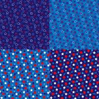 motifs de fond d'étoiles bleu blanc rouge vecteur