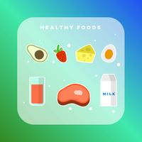 Collection d'aliments sains vecteur