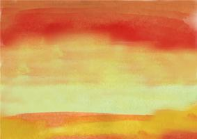 Peint à la main coloré fond aquarelle. Coups de pinceau aquarelle orange. Texture aquarelle abstraite et fond pour la conception. Fond aquarelle sur papier texturé. vecteur
