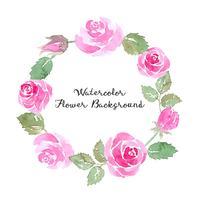 aquarelle fond de fleur rose vecteur