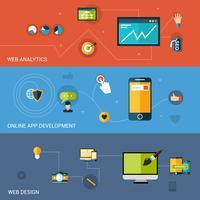 Bannière de développement Web vecteur