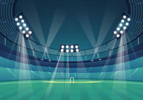 Stade de cricket vecteur