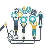 Concept de travail en équipe vecteur