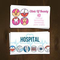 Set de cartes médicales vecteur