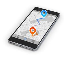 Navigation mobile pour smartphone vecteur