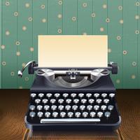 Machine à écrire de style rétro vecteur