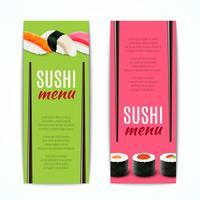Sushi bannières verticales vecteur