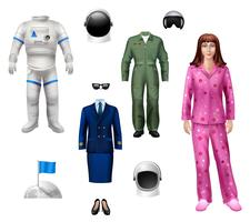 pack fille astronaute