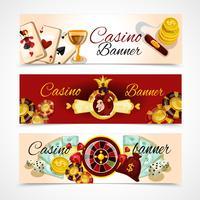 Jeu de bannière de casino vecteur