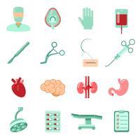 Set d'icônes de chirurgie