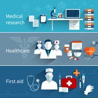 Bannières plates médicales