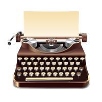 Illustration réaliste de machine à écrire vecteur