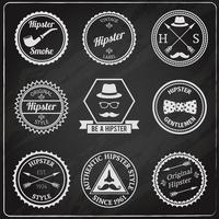 Tableau d'étiquettes hipster vecteur