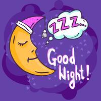 Illustration du temps de sommeil vecteur