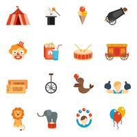 icône de cirque plat