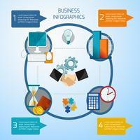 ensemble d'infographie d'affaires vecteur