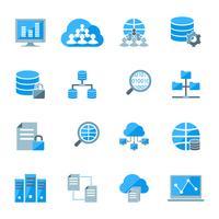 icônes de données volumineuses vecteur