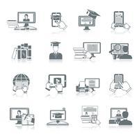 Icône d'éducation en ligne vecteur