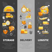 Ensemble de bannières de logistique