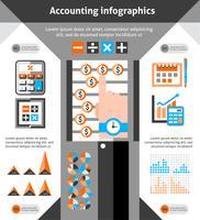 Jeu d'infographie comptable vecteur