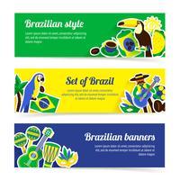 Ensemble de bannière du Brésil