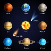 Ensemble de planètes réalistes