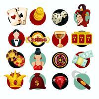 Jeu d'icônes de casino