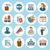 élection icône plate