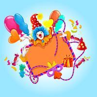 Célébration fond coloré